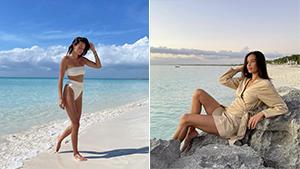 We Love Kelsey Merritt's Stunning Beach Babe Ootds In The Bahamas
