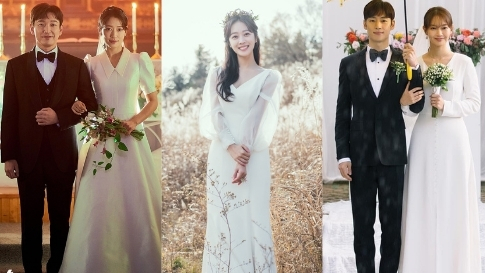 12 Minimalist Bridal Gowns You'll Want To Wear, As Seen On K-dramas
