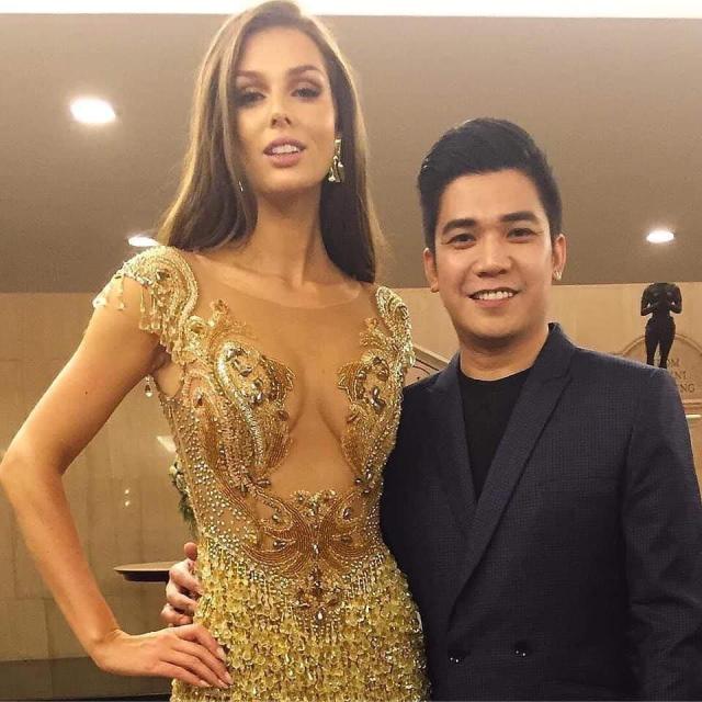 Rian Fernandez with Miss Canada 2018
