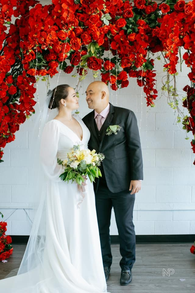 Melissa ricks simple wedding gown
