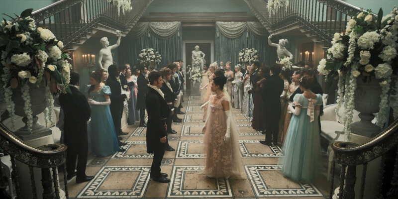 wedding inspiration from bridgerton /> <figcaption class=