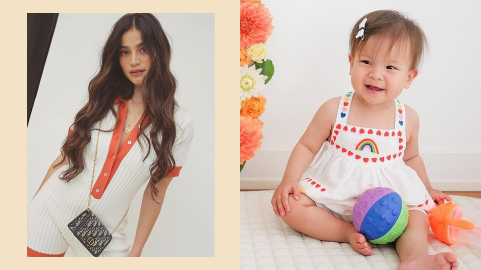 """Anne Curtis """"borrowed"""" Baby Dahlia's Mini Dior Bag For Her Ootd And It Suits Her Perfectly"""