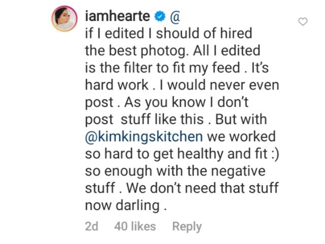 heart evangelista defends her bikini photos