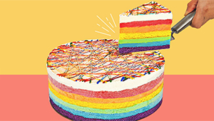 This Rainbow Ice Cream Cake Has All The Flavors You Can Think Of