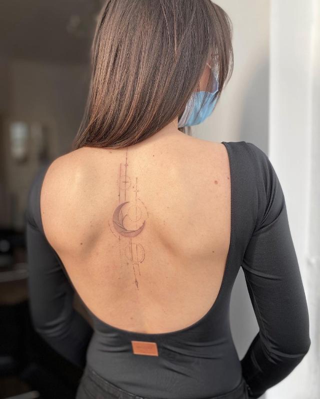 cute moon tattoo ideas