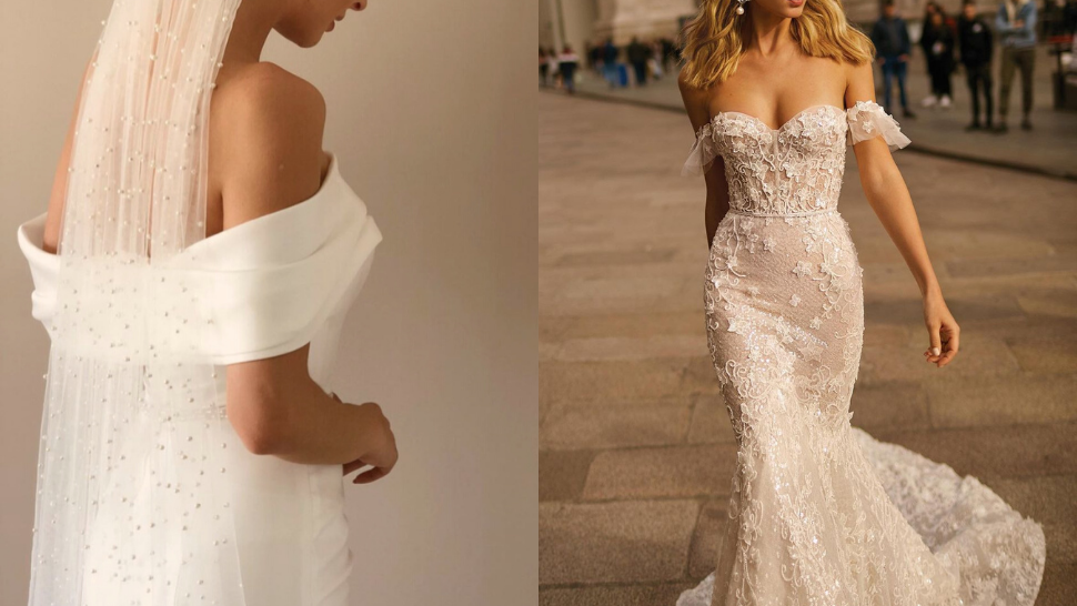 11 Gorgeous Off-Shoulder Wedding Gowns You Can Wear Down the Aisle