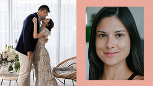 Bianca King Just Got Married In The Prettiest Polka Dot Dress For Her Low-key Diy Wedding