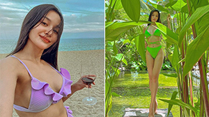 Kris Bernal's Sultry Swimsuit Ootds In Batangas Flaunt Her Beach-ready Bod