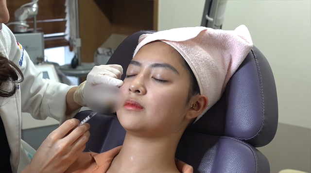 rei germar getting cosmetic injections done in south korea