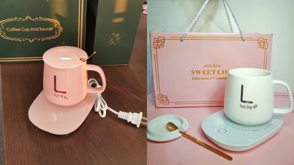 Coffee Lovers, You Need This P350 Chic Ceramic Mug + Heating Pad Set In Your Life