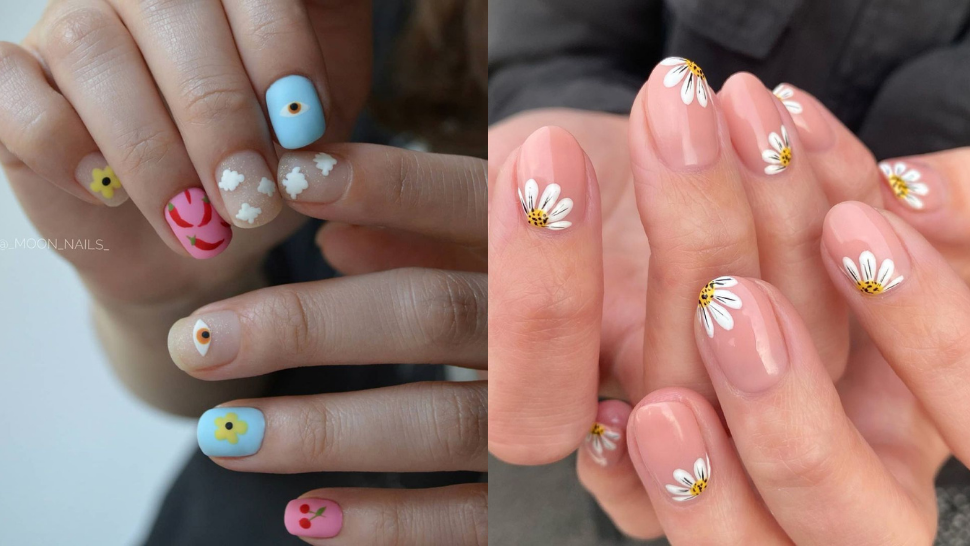 10 Colorful, Floral Manicures That Will Look Stunning on Short Nails