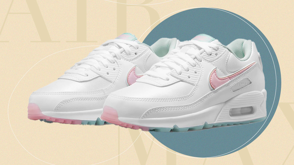 The Nike Air Max 90 Gets A Delicate Makeover With Pastel Pink And Blue Accents