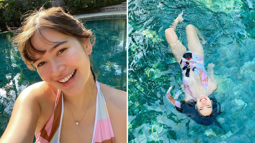 Bela Padilla Will Make You Want To Hoard Plunging One-piece Swimsuits