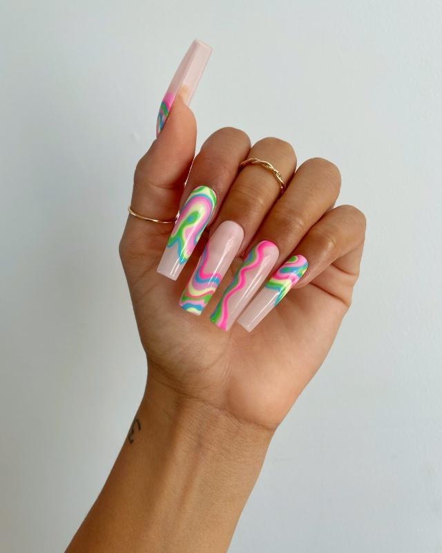 colorful manicure ideas
