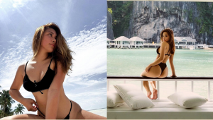 Kim Cruz's Sultry Beach Pics Are Proof That A Black Swimsuit Is All You Need