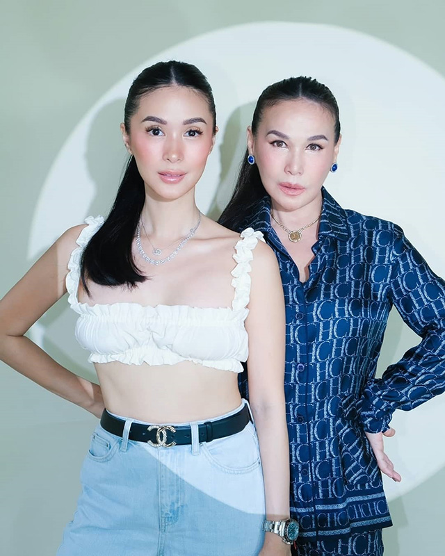 heart evangelista and her mother cecilia ongpauco