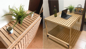 This Affordable Wooden Table Is Perfect For Your Tiny Living Space