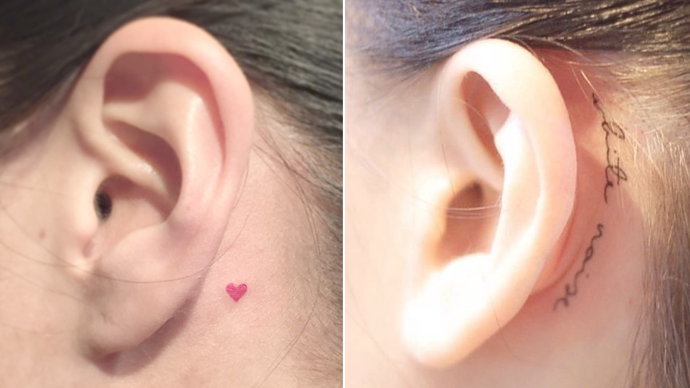 15 Tiny and Dainty Behind-the-Ears Tattoo Designs That Will Convince You to Get Inked