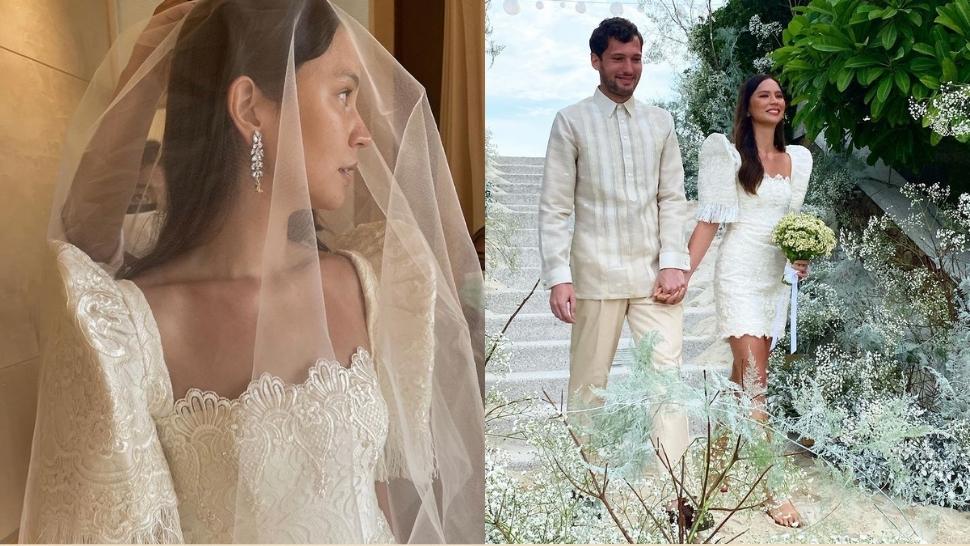 Jess Wilson Just Got Married In A Stunning Terno Mini Dress