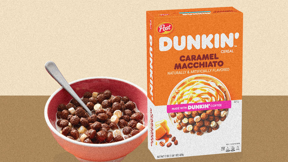 Yup, Dunkin' Coffee-Flavored Cereal Exists and Here's Where You Can Buy It