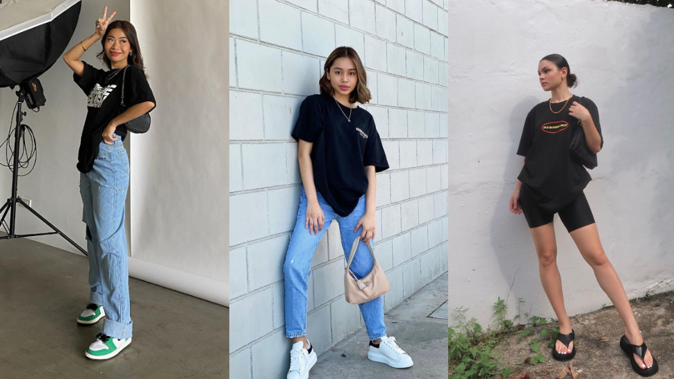 8 Oversized Black T-shirt Ootds To Wear When You Want To Look Cute And Comfy