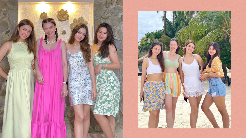 We're Living For The Cruz Family's Pastel Colored Beach Ootds In Boracay