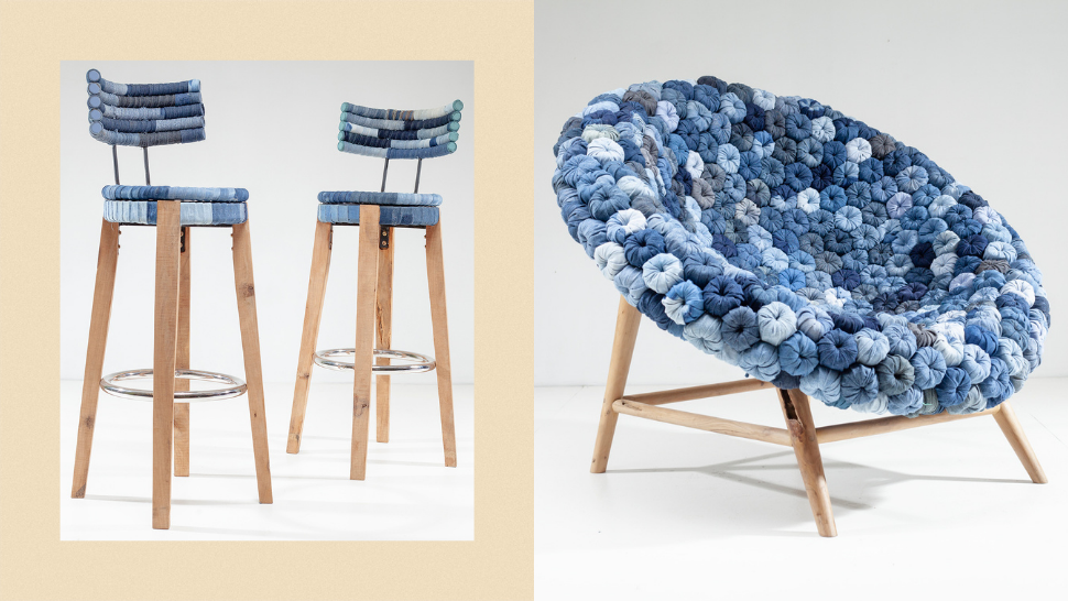 This Cebu-Based Brand Makes Modern Furniture Entirely Out of Recycled Denim and Wood