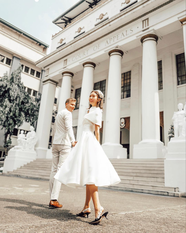 simple celebrity wedding gowns