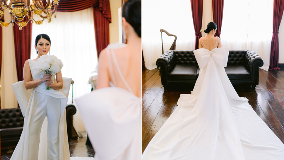 This Bride Got Married In The Most Stunning Minimalist Wedding Pantsuit