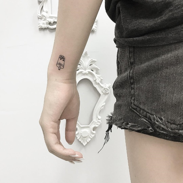milk tea tattoo