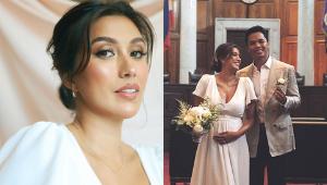 Rachel Peters Just Got Married In A P15,000 Empire-waist Wedding Dress