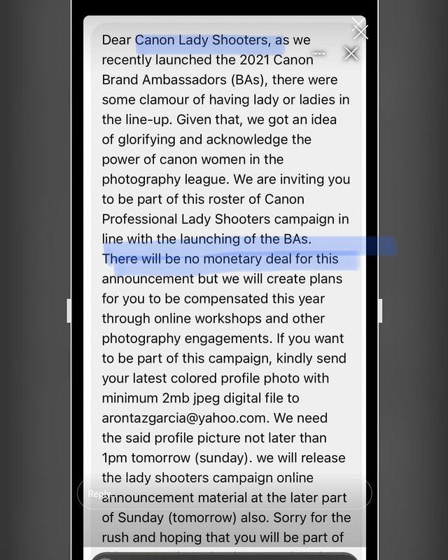 canon ambassador issue