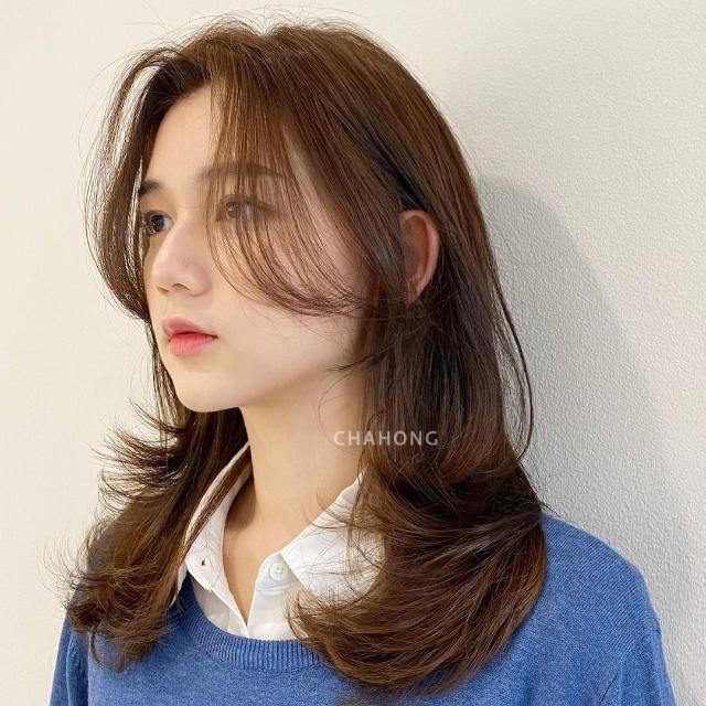 korean haircut with bangs