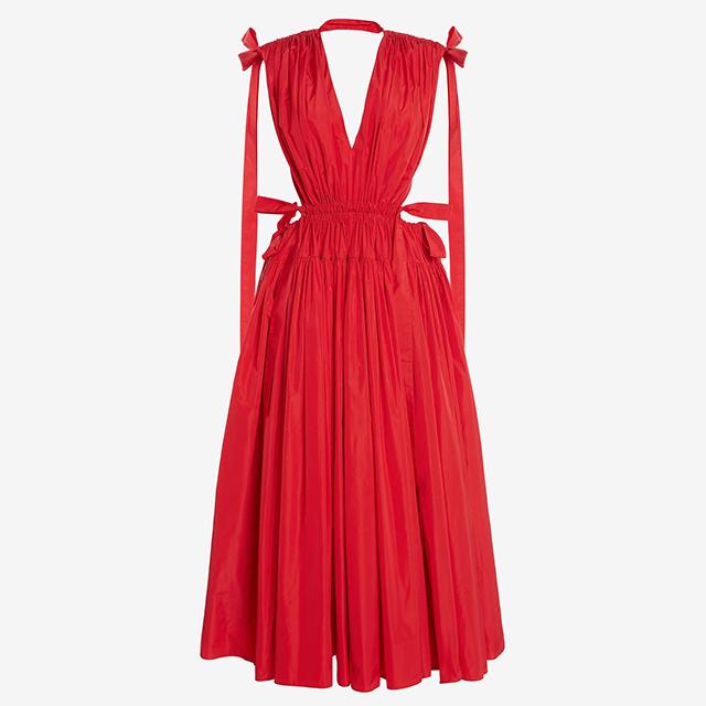 alexander mcqueen red pre-fall 2021 dress