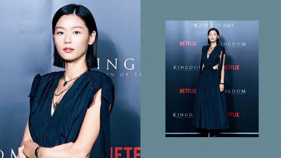 "Jun Ji Hyun Was a Vision in Alexander McQueen at the ""Kingdom: Ashin of the North"" Press Con"
