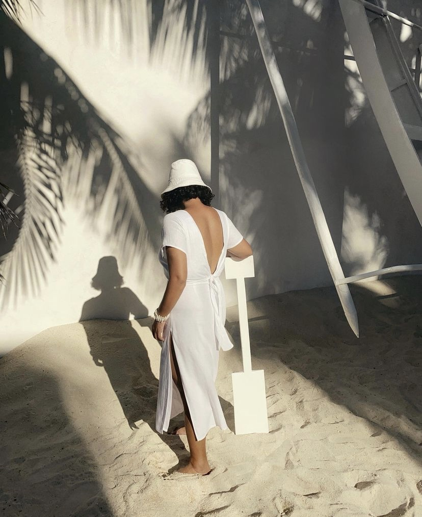 vianca soleil all white beach ootds