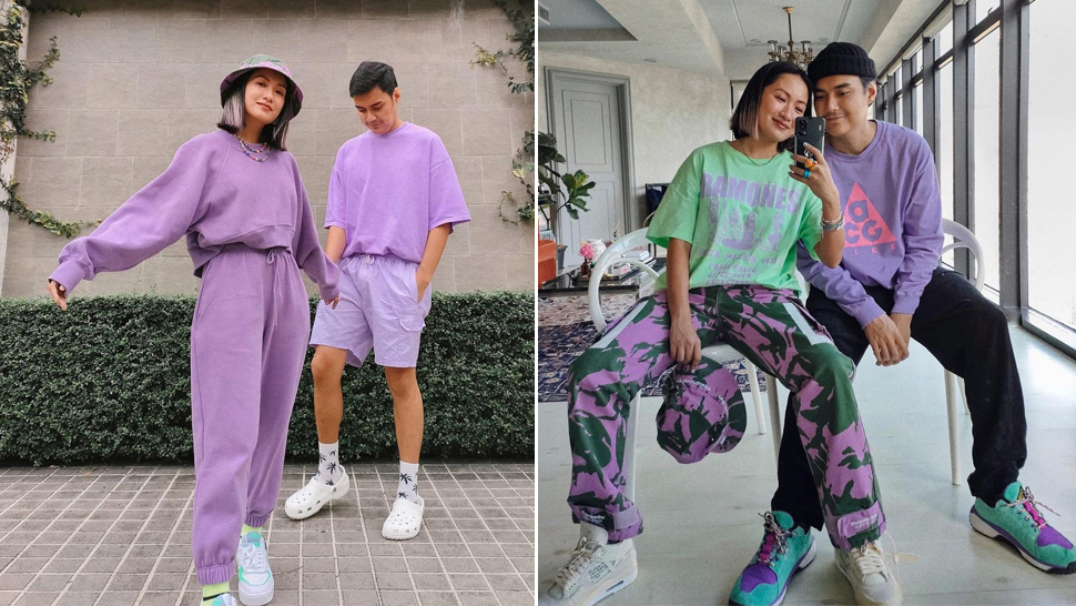 Laureen Uy And Miggy Cruz's Matchy Couple Ootds Will Convince You To Wear Ube-colored Outfits