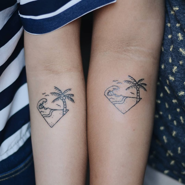beach tattoo design