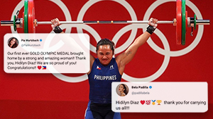 Celebrities Had The Best Reactions When Hidilyn Diaz Won Gold At The Tokyo Olympics