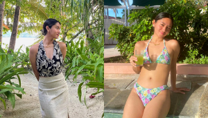 Claudine Co's Fresh Ootds Will Totally Convince You To Wear Prints To The Beach