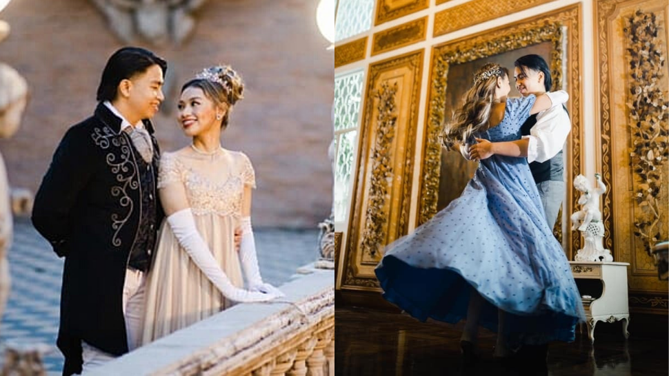 """This Couple's Enchanting Prenup Shoot Was Inspired By The Netflix Series """"bridgerton"""""""