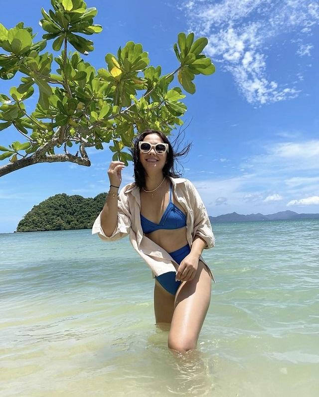 maja salvador beach swimsuit ootd in palawan