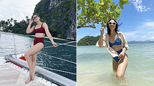 Maja Salvador's Swimsuit Ootds In El Nido Will Convince You To Shop For Monochromatic Bikinis