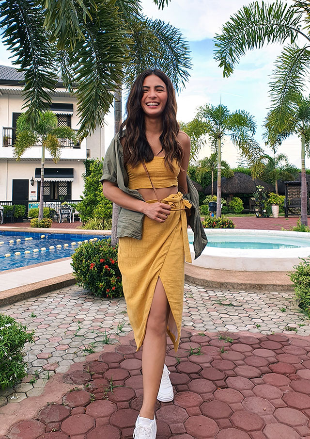 Lovi Poe linen and muted earth toned matching set