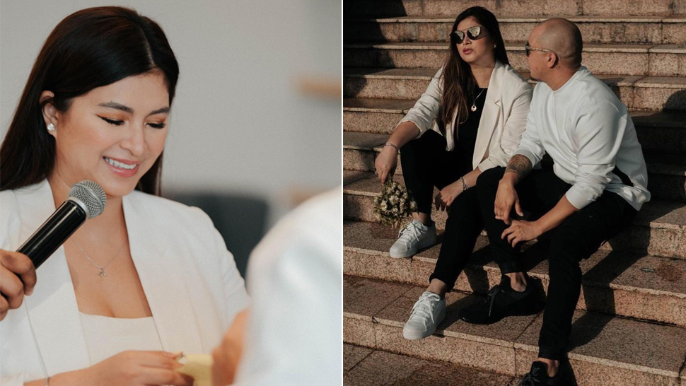 Angel Locsin Got Married In These Classic White Sneakers That Cost Less Than P3500