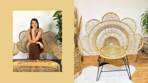 Here's Where To Shop The Chic Rattan Chairs Aubrey Miles Loves