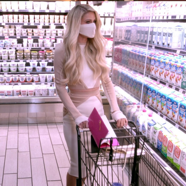 paris hilton's outfits from cooking with paris