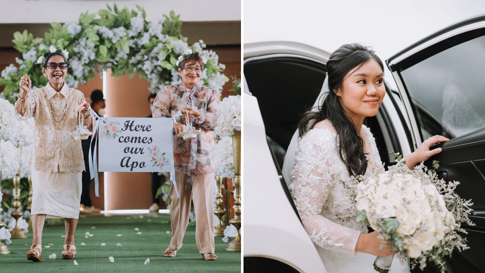 """This Bride's Grandmothers Walked Down The Aisle As Her """"flower Lolas"""""""