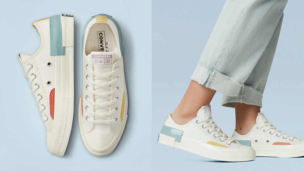 These Classic Converse Sneakers Just Got A Minimalist Update With Pastel Pops Of Color
