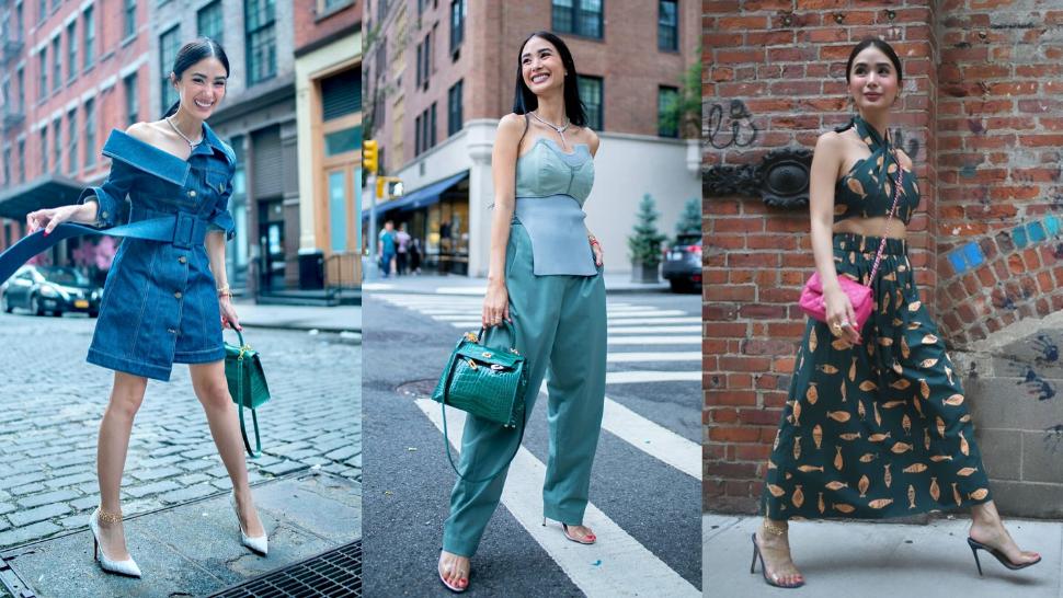 All Of Heart Evangelista's Fabulous Designer Ootds In New York